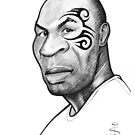 Caricature - Mike Tyson by Jan Szymczuk