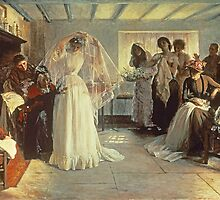 The Wedding Morning by Bridgeman Art Library