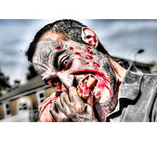 Zombie Eating Foot Photographic Print