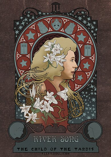 River Song art nouveau , Doctor Who , TARDIS by koroa