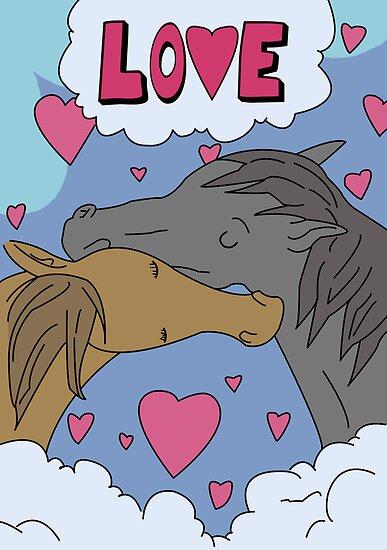 Tina's Horses Kissing Poster - Bob's Burgers by LukeSimms