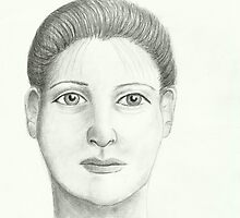 Woman - Pencil Portrait by Janette Oakman