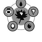 The Power Six - Minimalist White by RedWolfShop