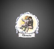 Gemini Zodiac Astrology iPhone, iPod Case Fade to Black, Super Lush by velvetlapin