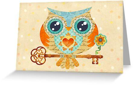 Owl's Summer Love Letters by sandygrafik