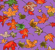 Hand drawn Leaves pattern by CClaesonDesign