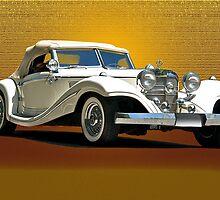1937 Mercedes 540 SSK  by DaveKoontz