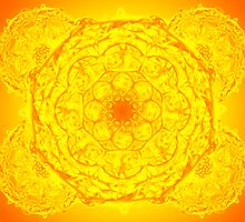 Mandala Healing thru Yellow and Orange  by Sarah Niebank