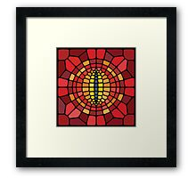 Eye of Sauron - Voronoi Framed Print