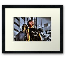 Pink Floyd Couple in New York City, USA Framed Print
