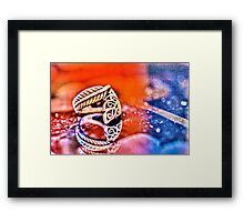 Leaf Ring Micro Photography Framed Print