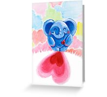 Me And My Heart - Rondy the Elephant In Love Greeting Card