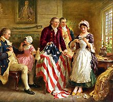 Betsy Ross and General George Washington by warishellstore