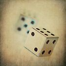 Vintage Chrome Dice by Honey Malek