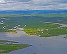 Aerial of Talkeetna, Alaska, USA by Margaret  Hyde