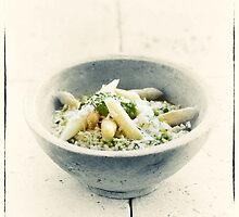 Wild Garlic Risotto With Asparagus by pther