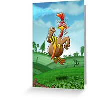 Chicken Running for His Life Greeting Card