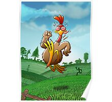 Chicken Running for His Life Poster