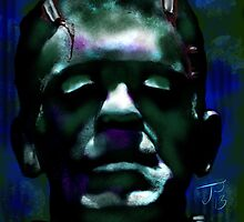 """""""The Monster"""" Frankenstein Painting by Jerry Pesce"""