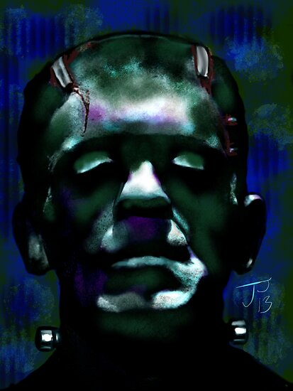 """The Monster"" Frankenstein Painting by Jerry Pesce"