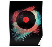 Vinyl Record T Shirt - Modern Vinyl Records T-Shirt Grunge Design Poster