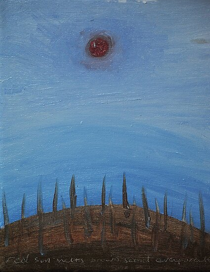 red sun melts brown sand evaporates by Isabela Lamuño