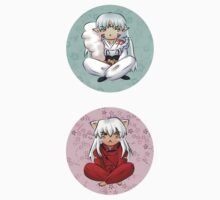 Inuyasha and Sesshomaru Chibis by myfluffy