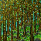Bluebells in Laburnum Forest by George Hunter