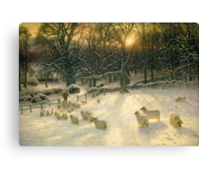 The Shortening Winter's Day is Near a Close Canvas Print