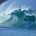 Glassy Wave in Hawaii by printscapes
