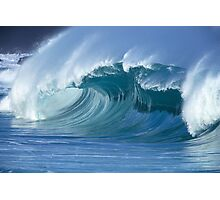 Glassy Wave in Hawaii Photographic Print