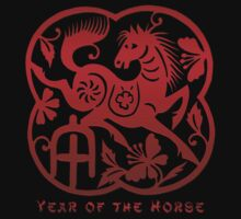 Year of The Horse Paper Cut Design by ChineseZodiac