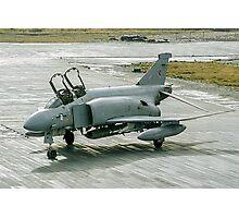 McDonnell F-4M Phantom FGR.2 XV464/U at RAF Stanley FI Photographic Print