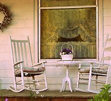 Front Porch Rocking Chairs cozy home decor by jemvistaprint