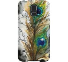 Abstract Watercolor Peacock Feather Samsung Galaxy Case/Skin