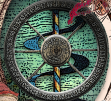 The Wheel of Fate: Circus Tarot by Duck Soup Productions Sticker