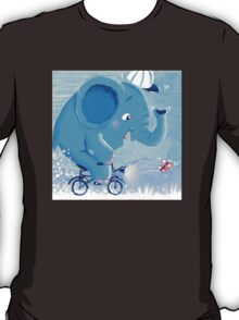 Cycling - Rondy the Elephant on his bike T-Shirt