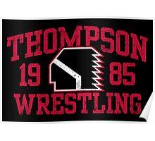 Thompson Wrestling Poster