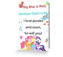 For the love of Ponies Greeting Card