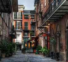 Jackson Square Alley by Greg and Chrystal Mimbs