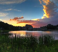 Sylvan Lake Sunset by intotherfd