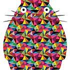 Mosaic Totoro by Chloe Morris