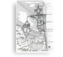 lamp at museu do traje Canvas Print