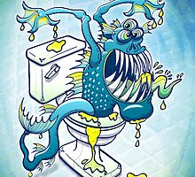 Toilet Monster by Zoo-co