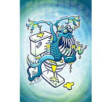 Toilet Monster Photographic Print