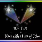 Top Ten in Black with a Hint of Color banner by debidabble