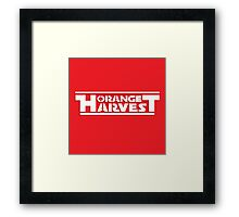 ORANGE HARVEST (WHITE PRINT, NO DISTRESS) Framed Print