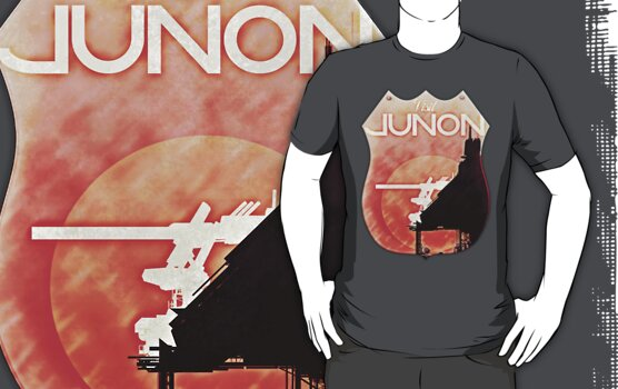 Final Fantasy VII - Junon Tourist Tee Distressed  by Reverendryu