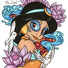 Jasmine Disney Day Of The Dead Style by EmRachArt92