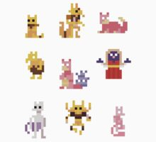 Mini Pixel Kanto Psychic Types - Set of 9 by pixelatedcowboy